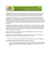 How to install Windows 8 Professional using VMWare Workstation 11