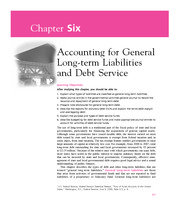 Chapter 6  Accounting for General Long-term Liabilities and Debt Service
