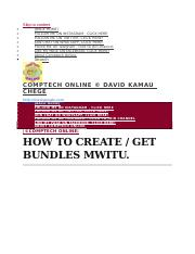 LEARN HOW CREATE BUNDLES MWITU AND GET THE CODES docx - LEARN HOW