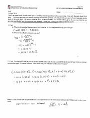 IE 2324 Quiz 3 Fall 2016 Answers