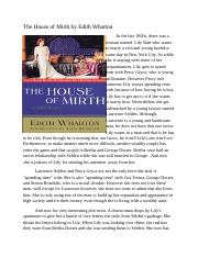 The House of Mirth by Edith Wharton.docx