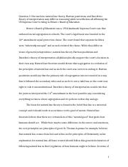 Writing Sample Brown v Board of Ed.docx