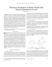 Dielectric Properties of Body Fluids with Various Hematocrit Levels_2011