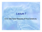 07. One Factor Measures of Price Sensitivity
