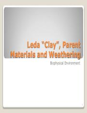 2 Leda Clay, Parent Material and Weathering