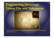 MECH2400 5400 Lecture Linear Fits and Tolerances 2014