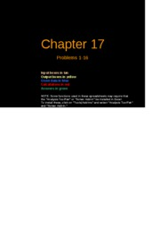 FCF 9th edition Chapter 17