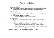 Rights of Consumers Debtors and Creditors notes