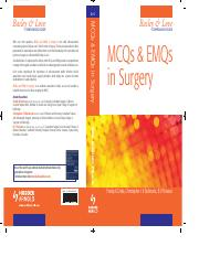 MCQs and EMQs in Surgery - Bailey & Love