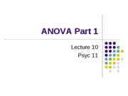 Lecture 10 One Way ANOVA