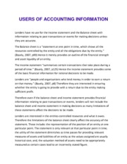 USERS OF ACCOUNTING INFORMATION (Report)