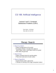 cs188 lecture 4 and 5 -- CSPs 2PP.pdf