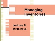Lecture 8_Managing Inventory