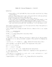 Srudy Guide 2 worksheet_MATH 113