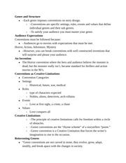 Genre and Structure notes