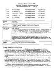 BusMGT 2321 Syllabus and Course Schedule Au13T2