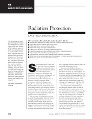 RADD 2501 Radiation Protection Directed Reading