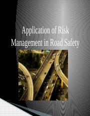 Group 4 Risk Management in Road Safety