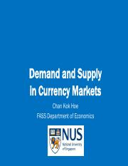 Lecture 12 pre-lecture video - Demand and supply in currency markets