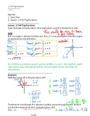 1.7 All Trig Functions