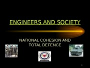 (16) National Cohesion and Total Defence