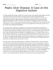 peptic ulcer case study sal volpe