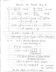 Quiz D Sample Solutions on Calculus