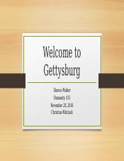 Welcome to Gettysburg