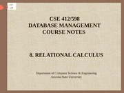 8. Relational Calculus