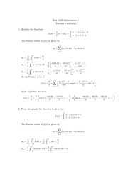 MA1505 Tutorial 5 Solutions