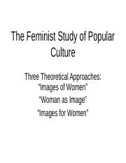 The Feminist Study of Popular Culture
