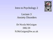 anxiety disorders 2