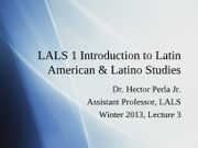 Lecture 4 Winter 2013