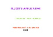 Microsoft PowerPoint - Fluent's Application