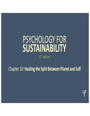 Psychology for Sustainability 4e PP Slides_ Chapter 10