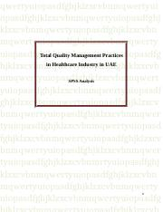Total Quality Management Practices in Healthcare Industry in UAE.doc