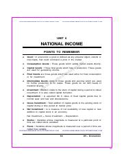 CBSE Class 12 Economics Questions for National Income and Related Aggregates