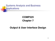 COMP325 CH 07 - Output User Int