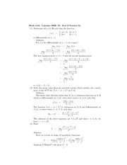 2009 Calculus Test 2