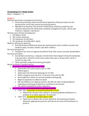 Accounting 311 Study Guide Exam 1