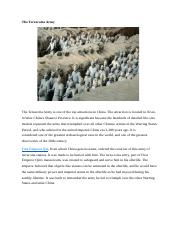 The terracotta army.docx