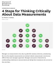 4 Steps for Thinking Critically About Data Measurements