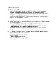 Practice questions for second exam - 2001.01 - answers