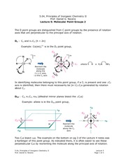 Molecular Point Groups 2