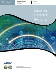 Module 10 - Reading Companion Tutorial 2 -  IATAC Intrusion Detection Standards