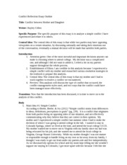 Good essay about conflict