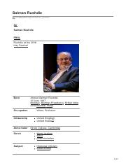 Salman Rushdie Biography and his Work.pdf
