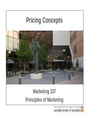 MKTG 19 - Pricing - Key Slides Edits