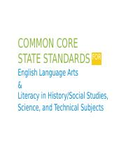 Common Core State Standards for English Language Arts(1)