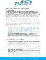 How to write a DBA research degree proposal